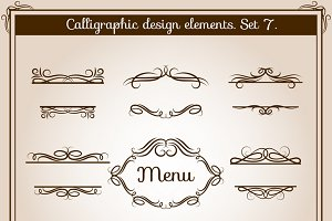 Ornamental design antique elements