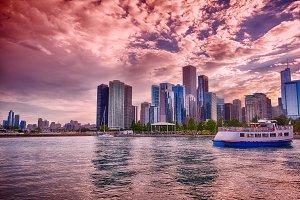 Beautiful Chicago Skyline.