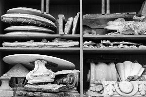 Broken Sculptures in a Museum