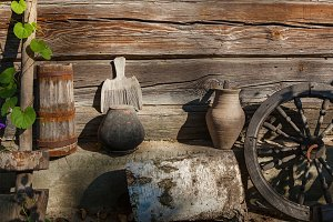 old country ware and utensils