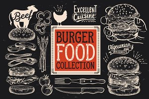 Burger Food Elements