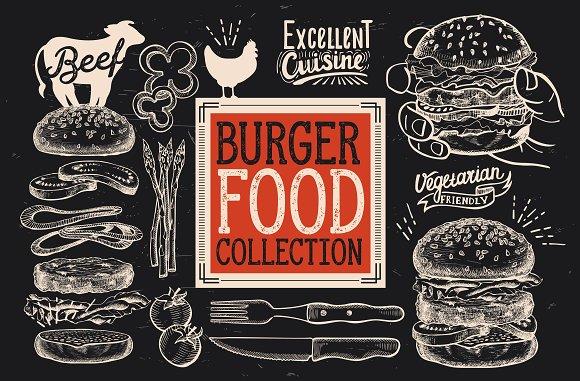 Burger Food Illustrations