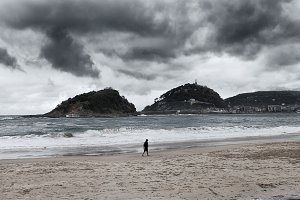 Shell beach in san sebastian