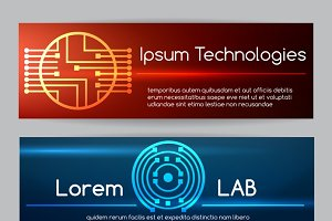 Digital engineering banner set