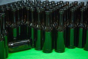 empty bottles for bottling beer