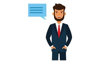 male attorney cartoon flat vector illustration concept on isolated white background