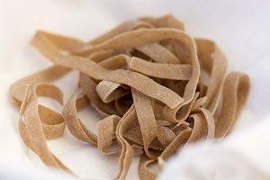 Uncooked organic fresh pasta