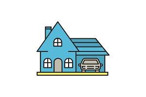 Cottage color icon