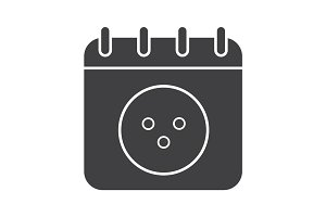 Bowling tournament date glyph icon