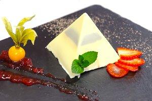 white chocolate pyramid