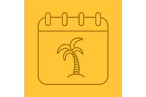 Vacations days linear icon