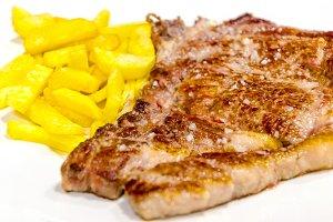 white veal steak