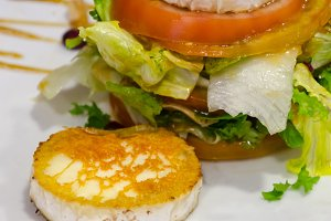 grilled goat cheese with salad