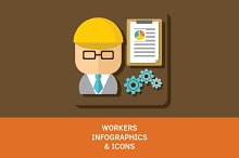 Workers Icons & Infographics