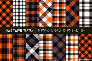Halloween Tartan & Checks Patterns