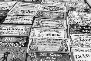 Fileteado Posters Buenos Aires