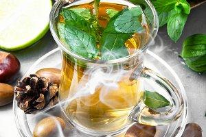 Tea lime mint