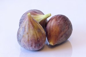 Three ripe figs