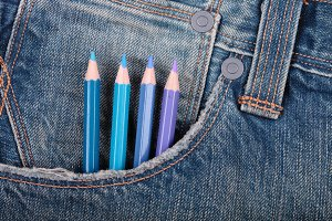 Jeans and pencils