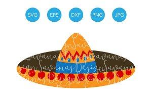 Sombrero SVG Mexican Fiesta Clipart