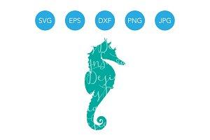 Seahorse SVG Ocean Fish Clipart