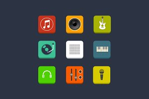 9 Music and Audio Icons
