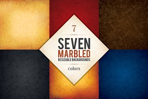 7 Marbled backgrounds collection