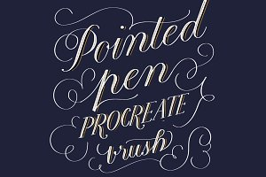 Pointed Pen Procreate Brush