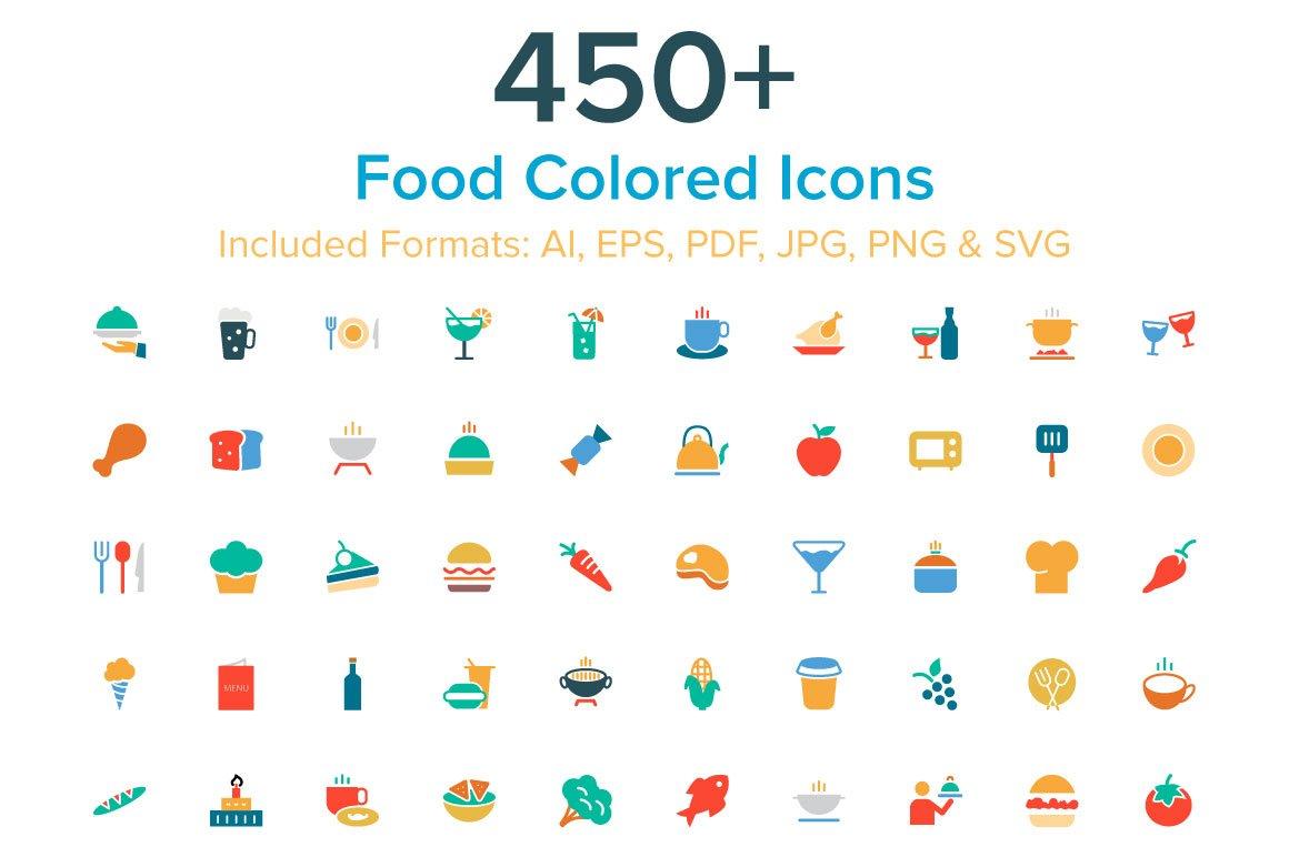Cassandra cappello graphic design toronto - 450 Food Colored Icons