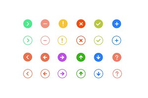 24 Interface Symbols and Icons