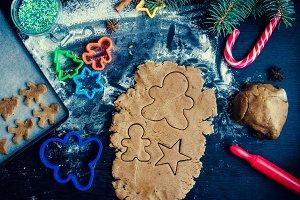 Step of making Christmas cookies