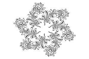 Rowan branch. Round pattern