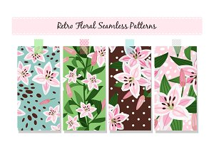 Beautiful pink lily pattern set