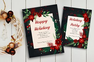 EPS X-mas invitation & greeting card