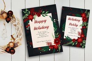 EPS X-mas invitation & greeting card