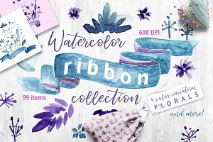 Watercolor Ribbon Collection