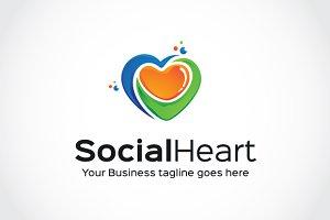 Social Heart Logo Template