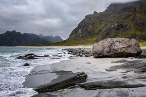Uttakleiv beach in Norway