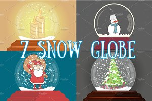 SET Snow globe - Christmas toy