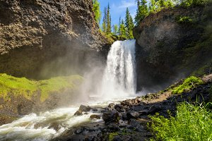 Moul Falls in Wells Gray Provincial Park in Canada