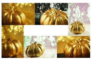 Gold Pumpkin & Bokeh Photo Multipack