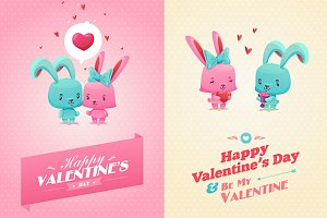 Happy Valentine cards (vector)