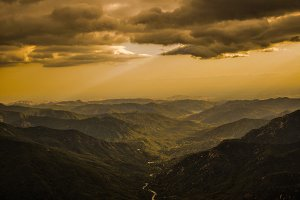 Cloudy Sunset over Sequoia National Park