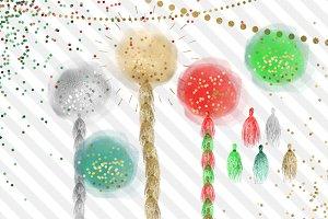 Christmas Glitter Balloons