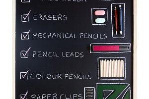 Drawing tools over blackboard