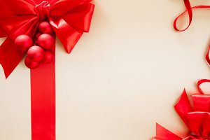 Holiday Background, satin & silk