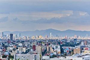 Panorama of Mexico City