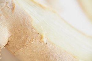 Closeup of fresh ginger root