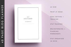 Blog Planner | 2018 Blog Printable