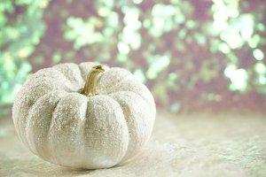 White Glitter Pumpkin